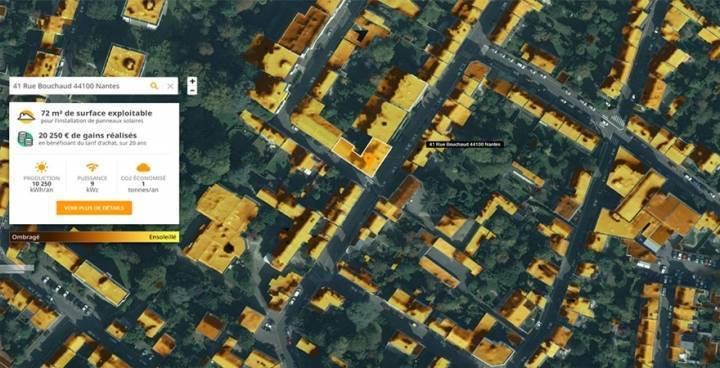 cadastre solaire à Nantes Métropole
