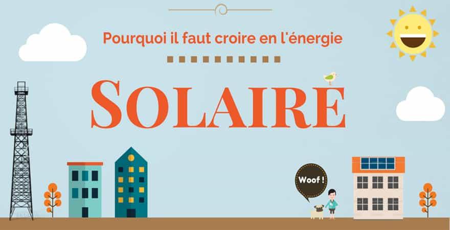 infographie énergie solaire