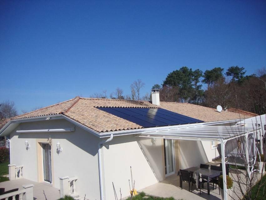 Maison panneau solaire 3 kWc intrégration au bâti autoconsommation vente surplus