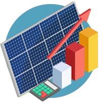 Calcul production rendement panneau photovoltaique 2018