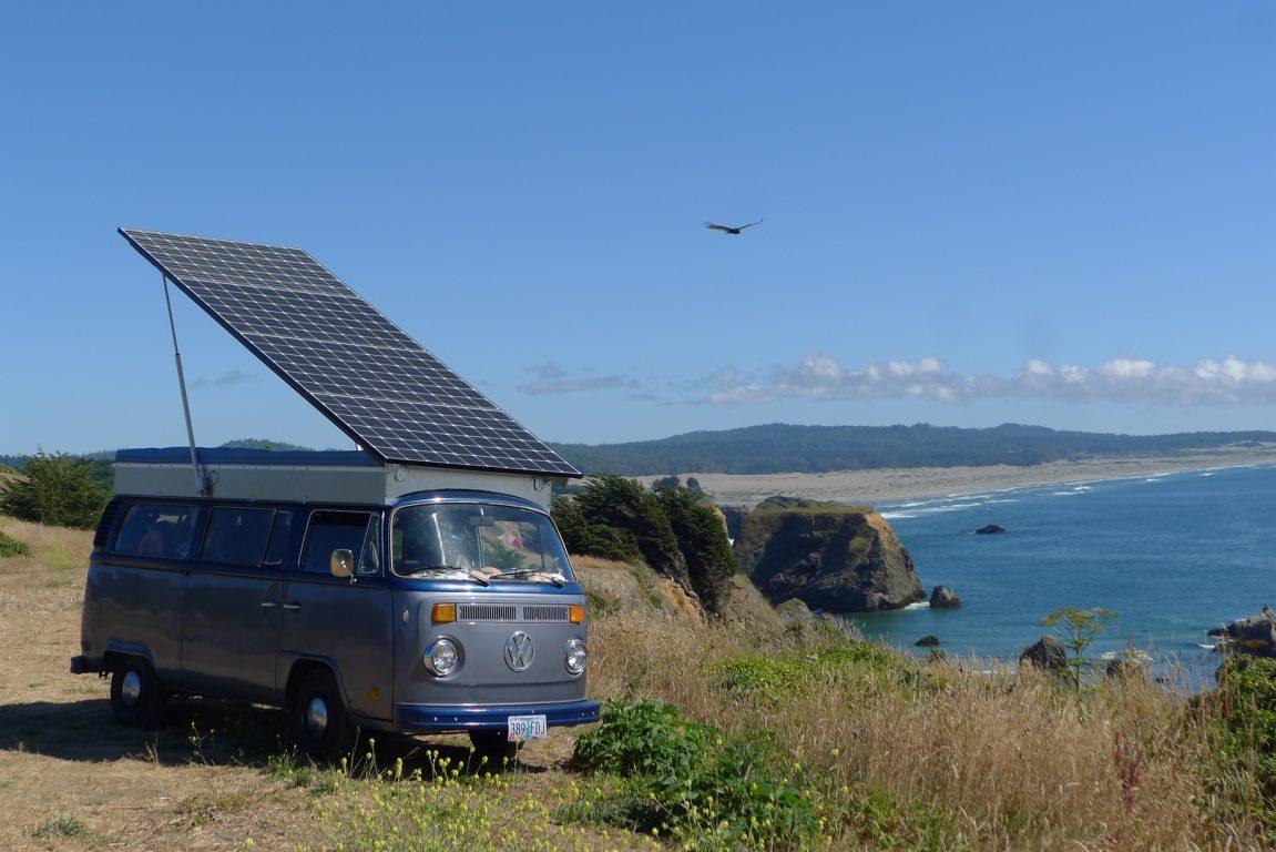 van solaire panneaux solaires