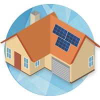 icône maison kit solaire autoconsommation totale vente du surplus