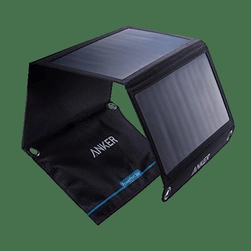 Chargeur solaire pour téléphone portable d'une puissance de 21W avec 2 supports USB