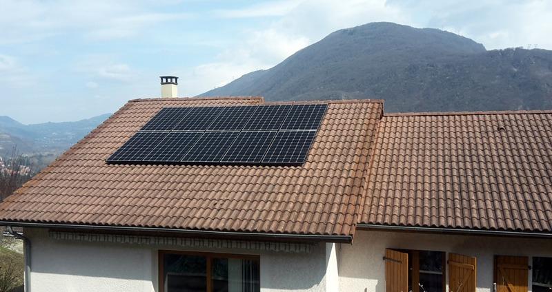panneau solaire photovoltaique surimposé autoconsommation isère