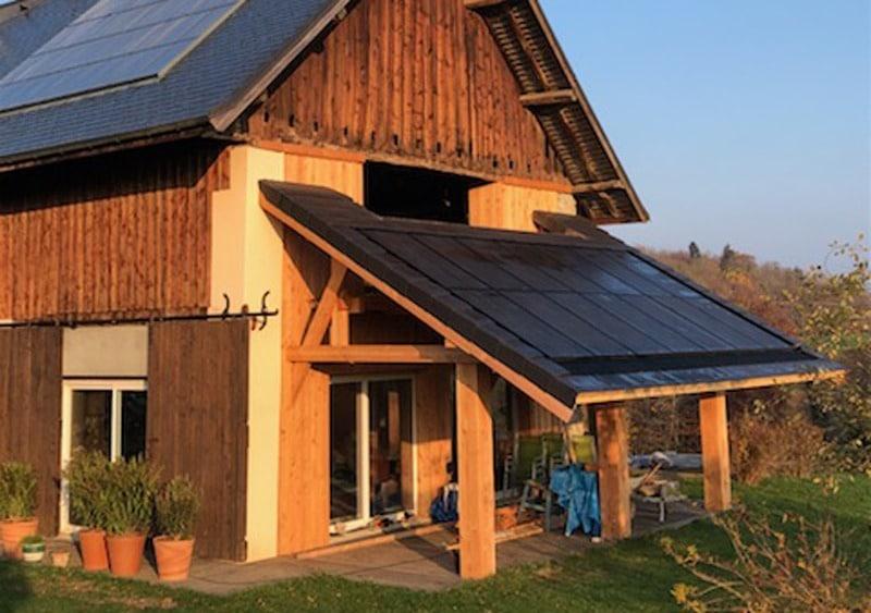 pergola photovoltaïque panneauw solaires