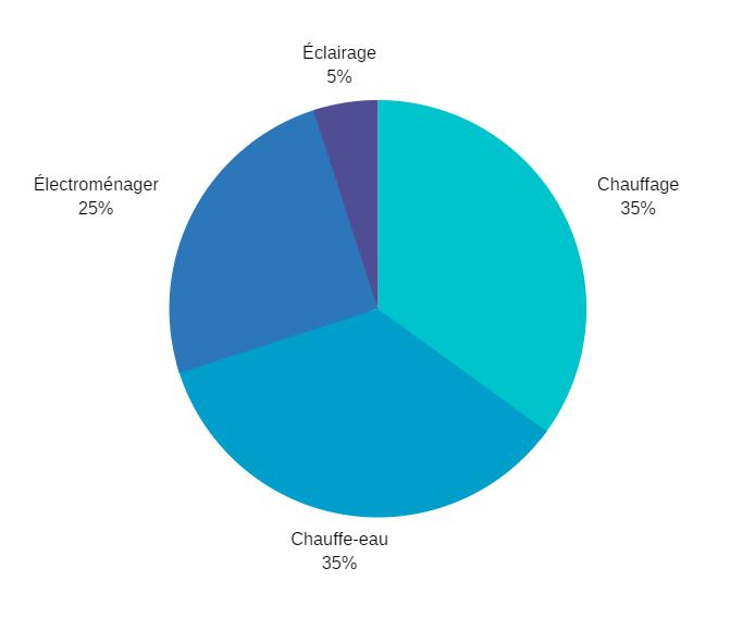 Graphique répartition consommation électrique consommateur In Sun We Trust 2019