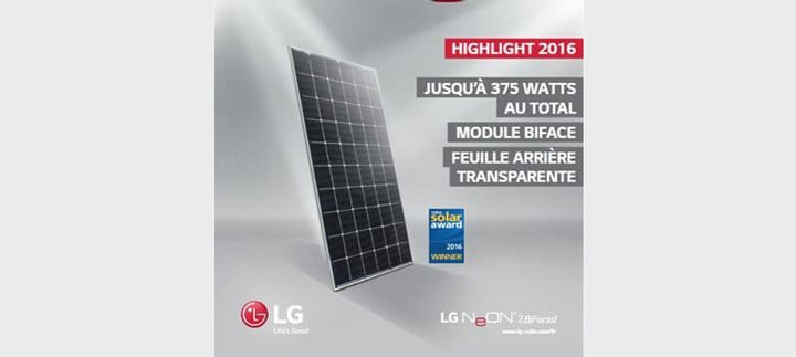 panneaux solaires LG