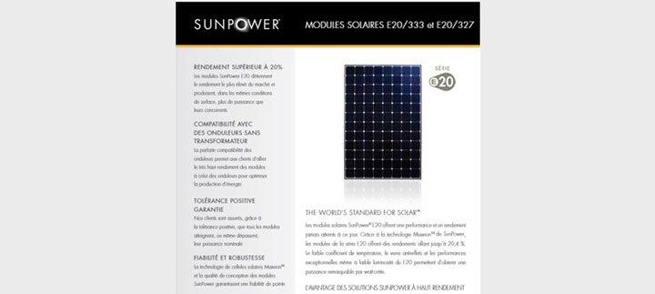 panneaux solaires sunpower