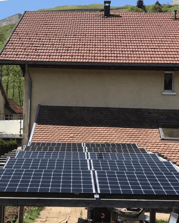 carport solaire panneaux photovoltaïques