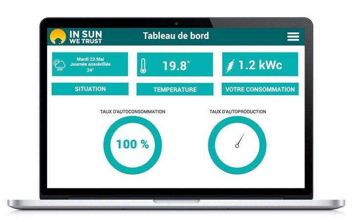 monitoring panneaux solaires domotique suivi consommation production