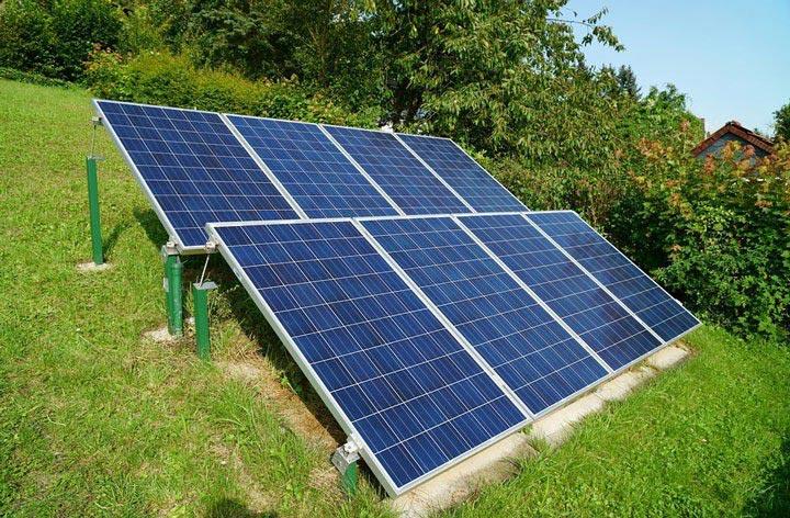 Installation kit panneau solaire photovoltaique au sol en autoconsommation totale