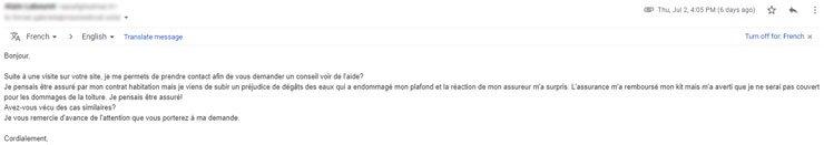 email dégât des eaux kit panneau solaire photovoltaique autoconsommation