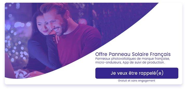 bouton offre panneau solaire français