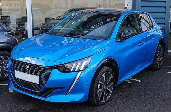 Voiture électrique Peugeot e-208