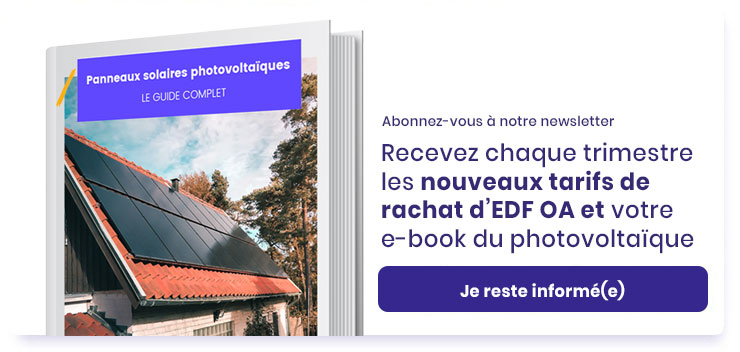 Bouton inscription newsletter tarif rachat EDF OA