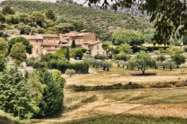 paysage dans le sud de la France